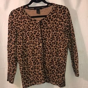 Leopard Button Down Sweater